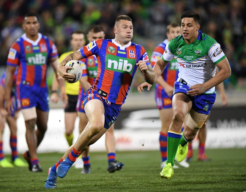 Newcastle Knights centre Shaun Kenny-Dowall.