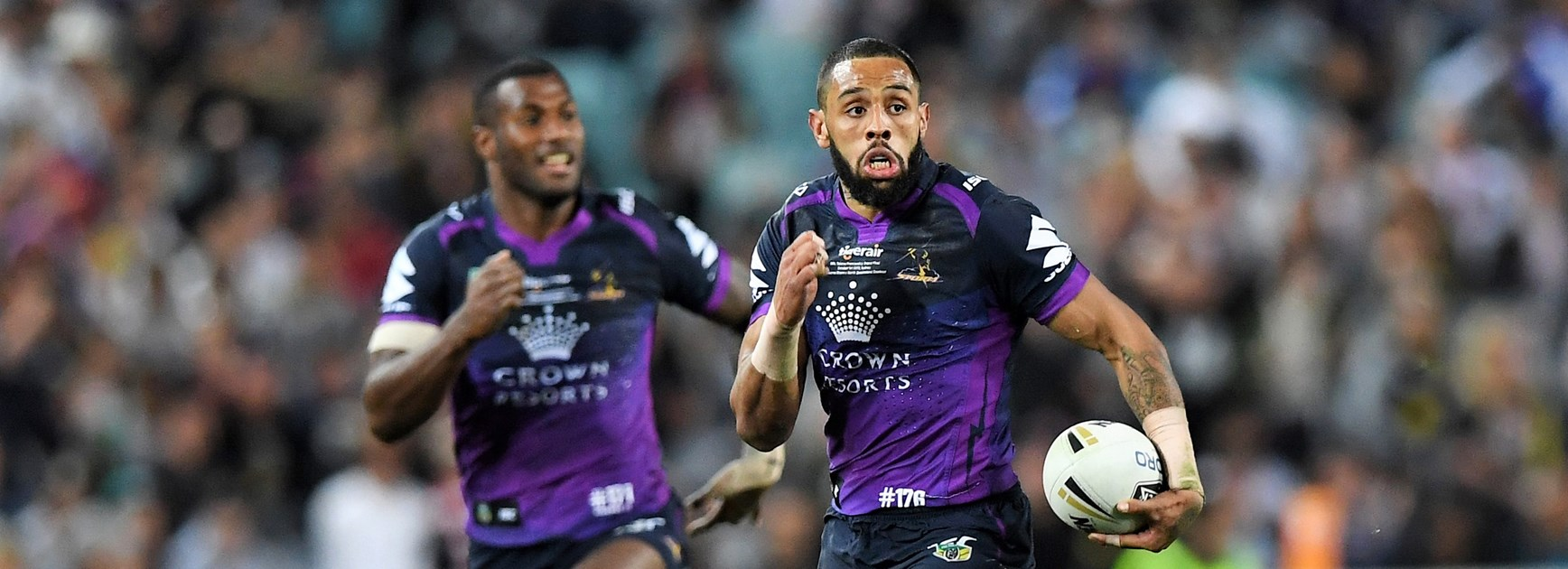 Storm wingers Suliasi Vunivalu and Josh Addo-Carr.