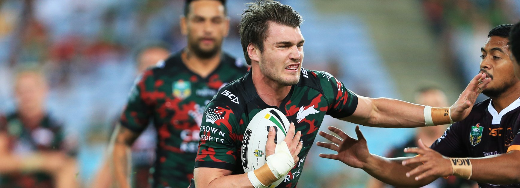 South Sydney back-rower Angus Crichton.