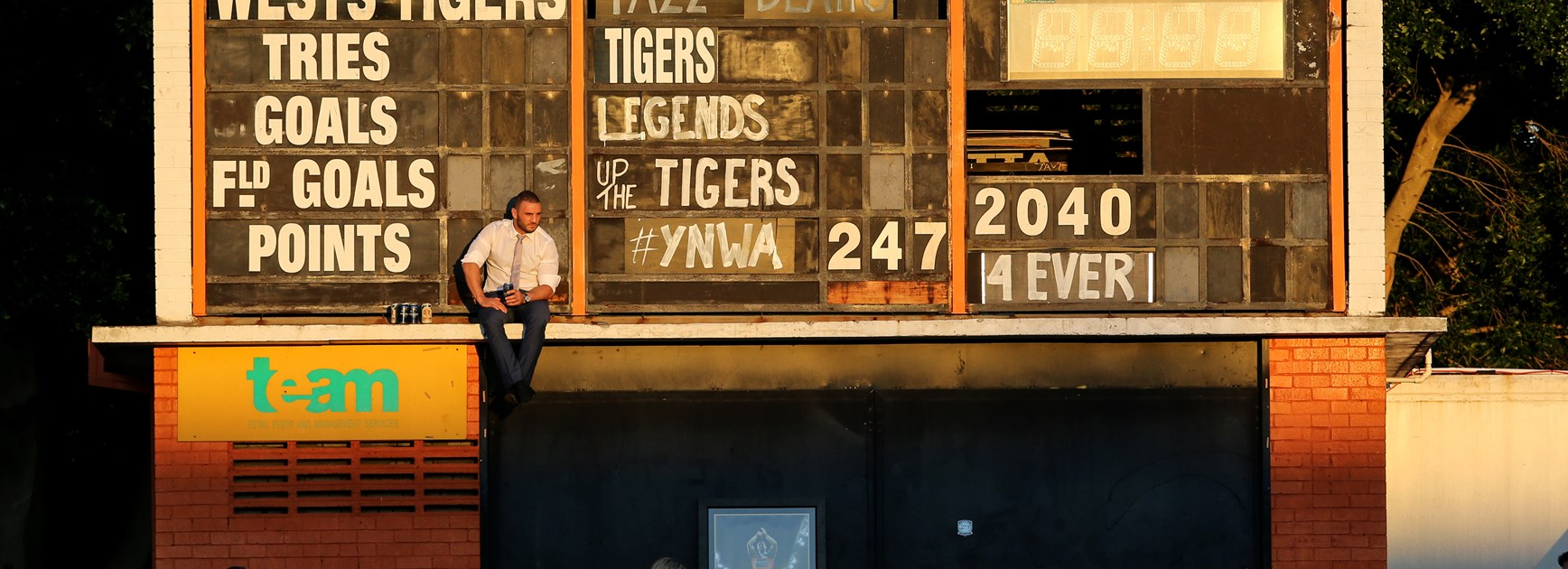 Robbie Farah after his final game at the Wests Tigers.