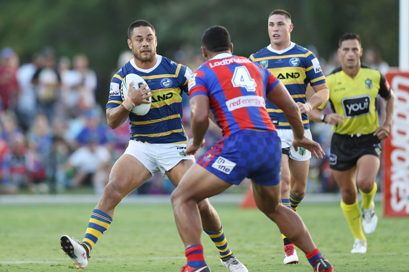 Jarryd Hayne in action against Newcastle.