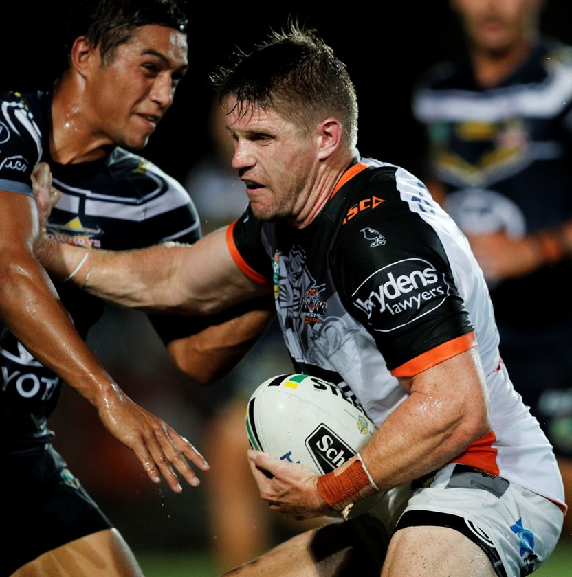 Wests Tigers back-rower Chris Lawrence.
