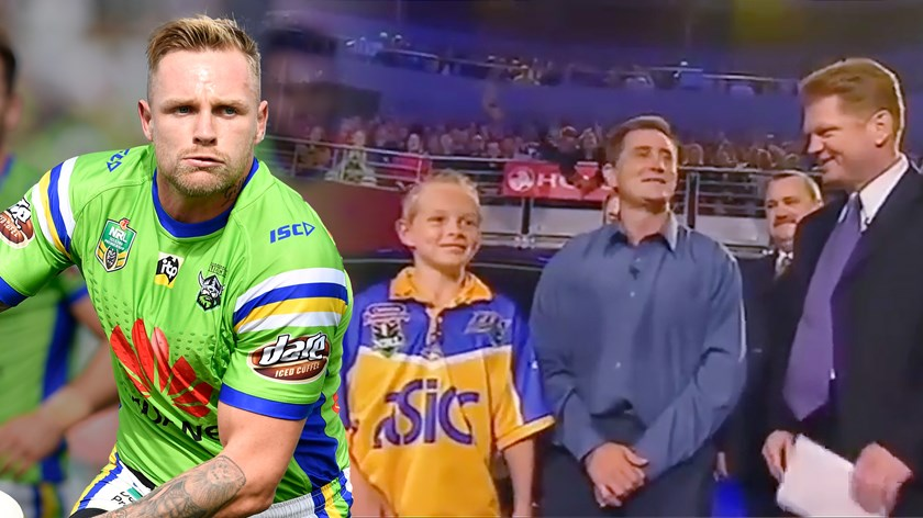 A young Blake Austin on the Footy Show.