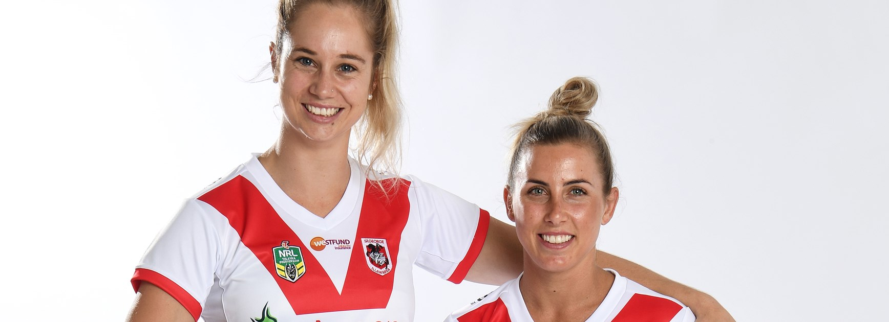 Jillaroos players Kezzie Apps and Sam Bremner