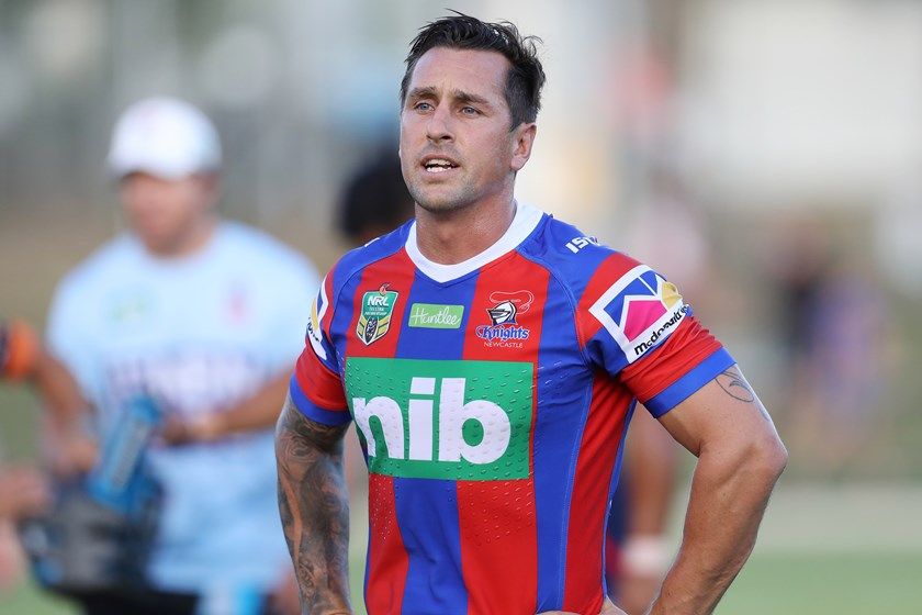 Newcastle Knights hafbackj Mitchell Pearce.