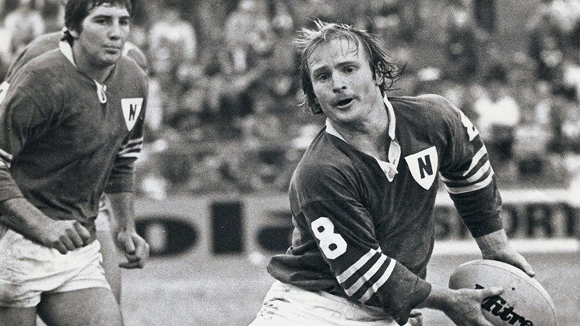 Paul Hayward playing for the Jets.