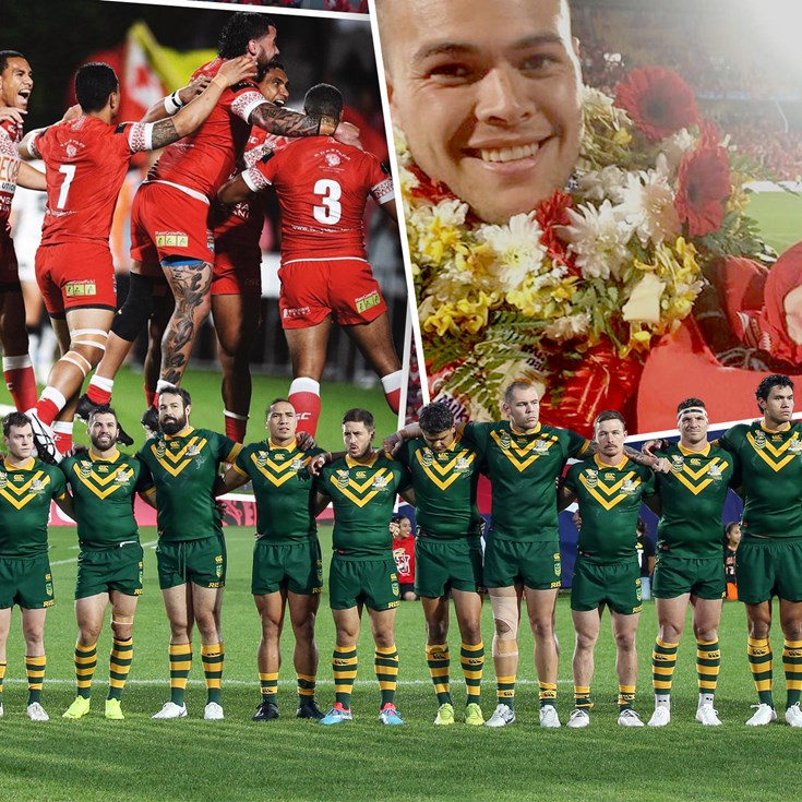 Australia and Tonga Players Share Test Excitement