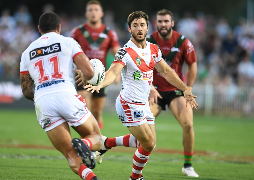 Ben Hunt in action for the Dragons.