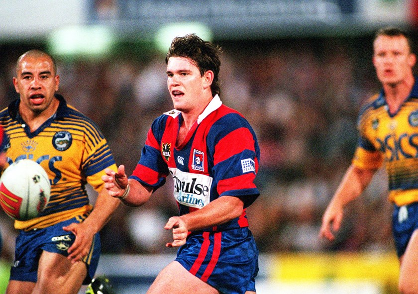 Matt Gidley playing for the Knights in 1999.