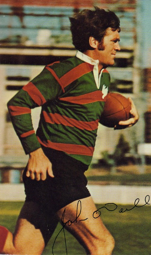 John O'Neill playing for the Rabbitohs.