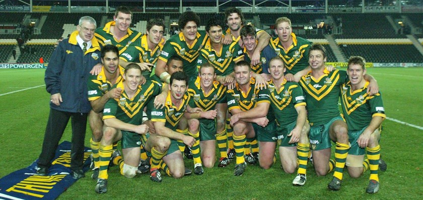 The victorious Kangaroos team in 2003.