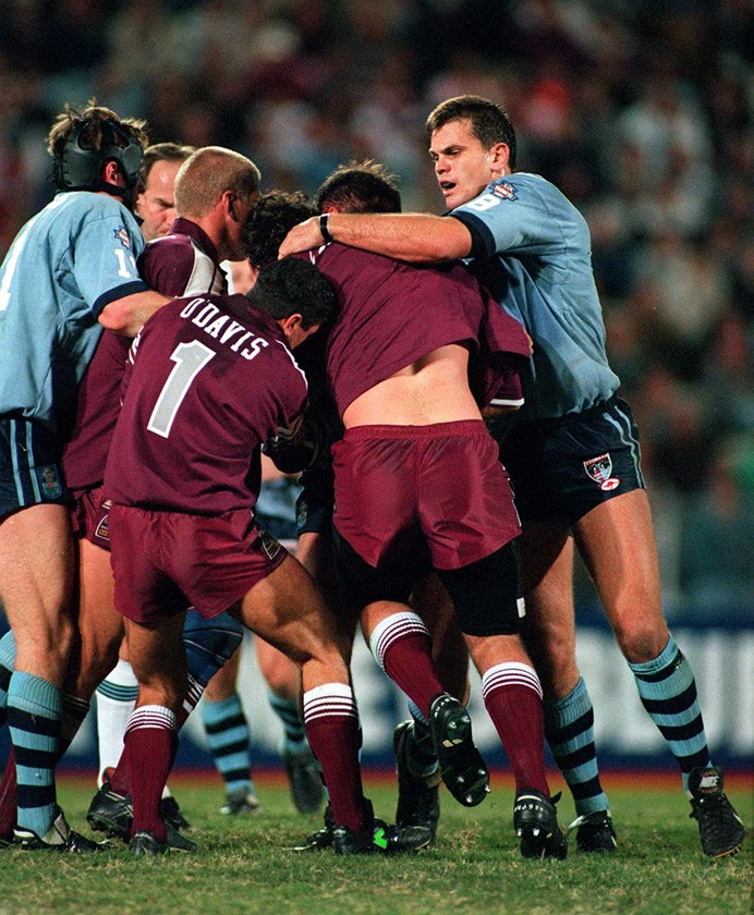 The 1995 Origin brawl at the MCG.