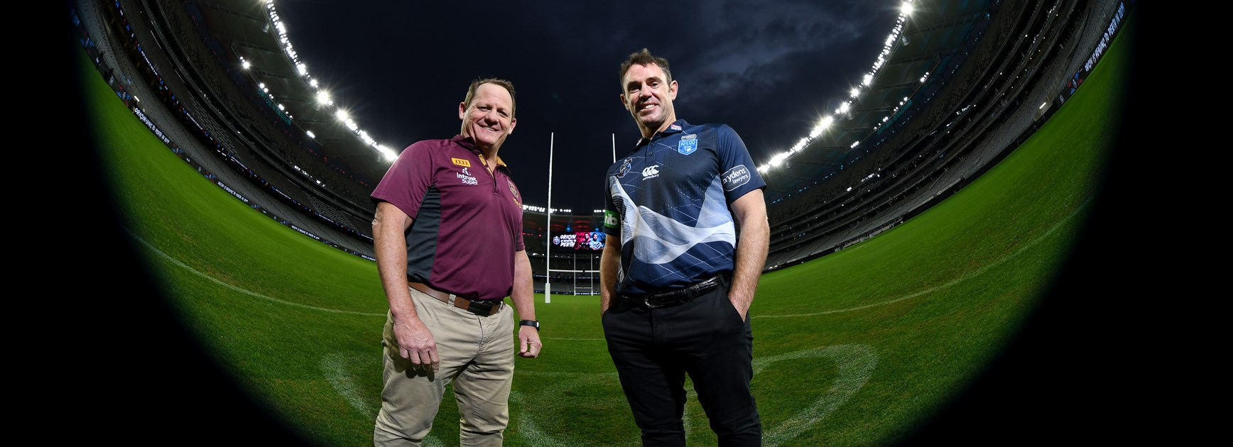 Qld coach Kevin Walters and NSW coach Brad Fittler.