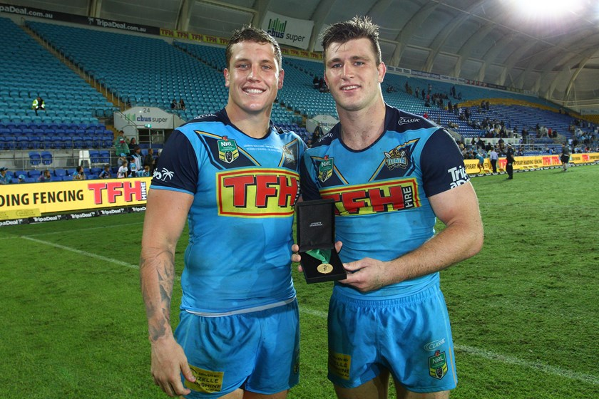 Titans and Maroons duo Jarrod Wallace and Jai Arrow.