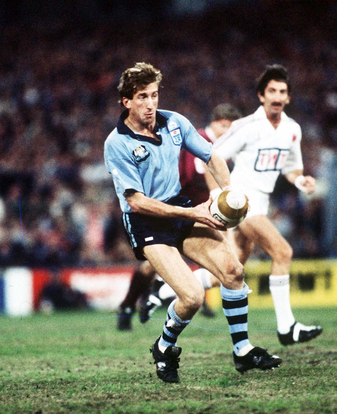 Steve Mortimer led NSW to a 1985 Origin series victory.