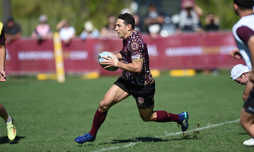 Maroons fullback Billy Slater prepares for his final Origin.
