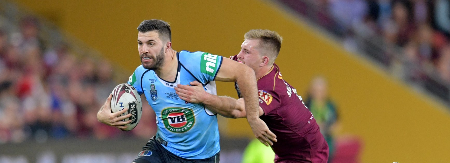 Blues fullback James Tedesco.