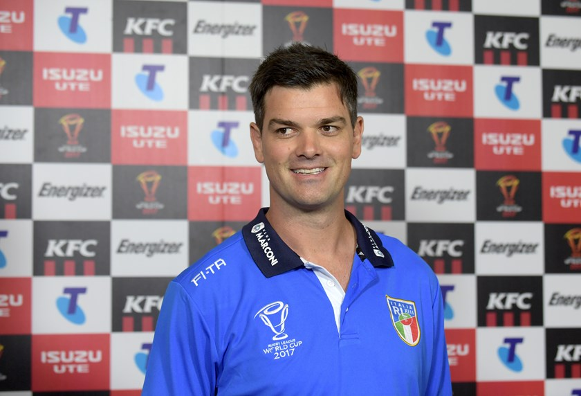 New Panthers coach Cameron Ciraldo coached Italy at last year's World Cup.