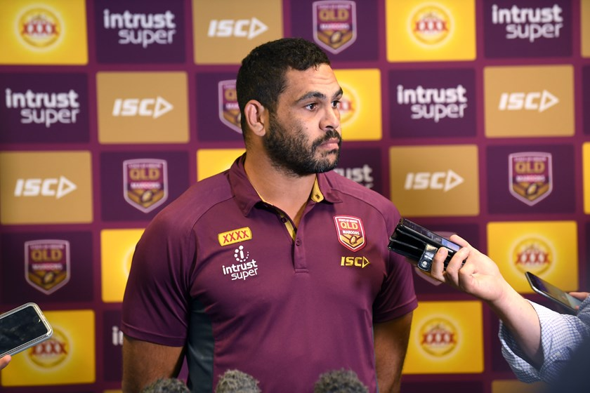 Greg Inglis at Queensland's State of Origin media call.