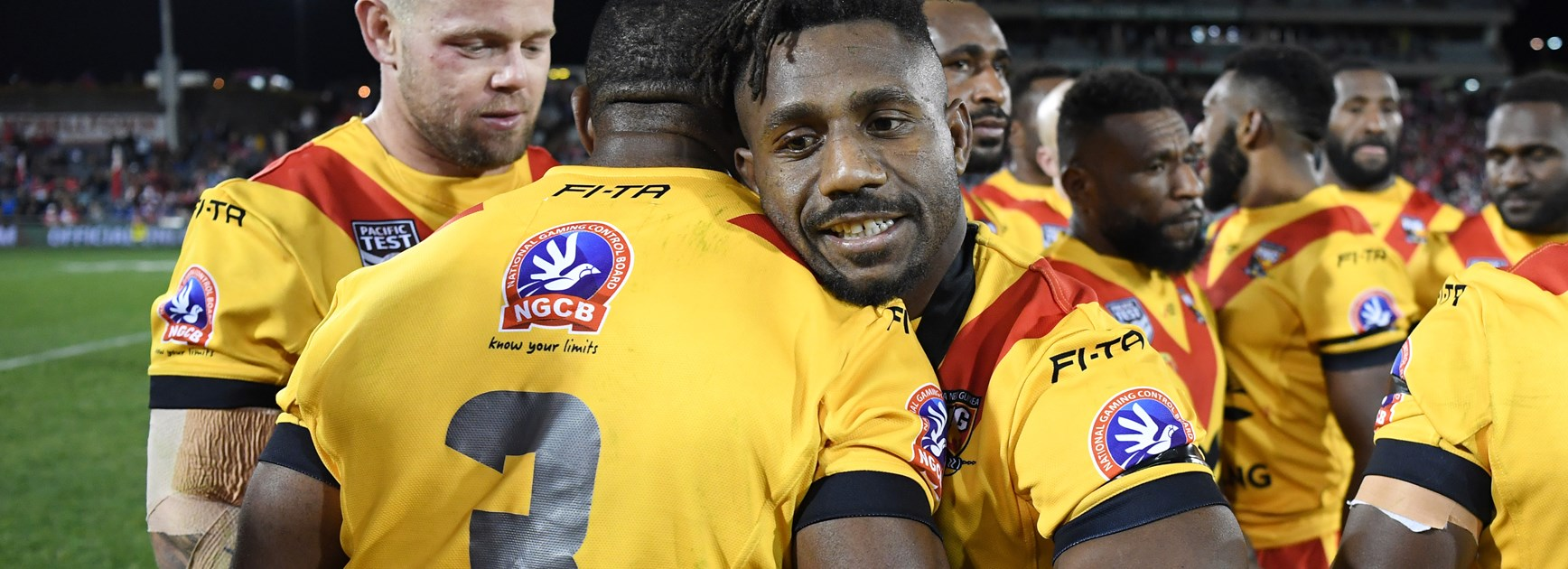 James Segeyaro after PNG's win over Fiji.