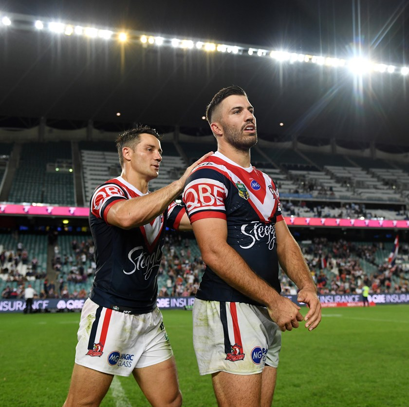 Roosters duo Cooper Cronk and James Tedesco.