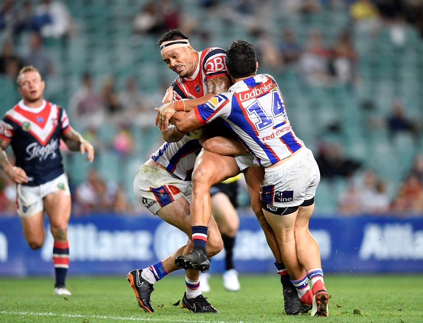 Roosters forward Zane Tetevano.