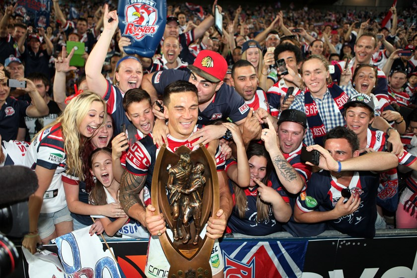 SBW helped the Roosters to the 2013 NRL premiership.