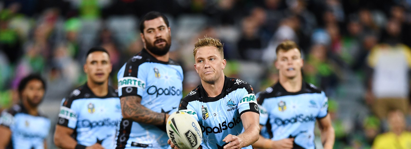 Sharks five-eighth Matt Moylan.