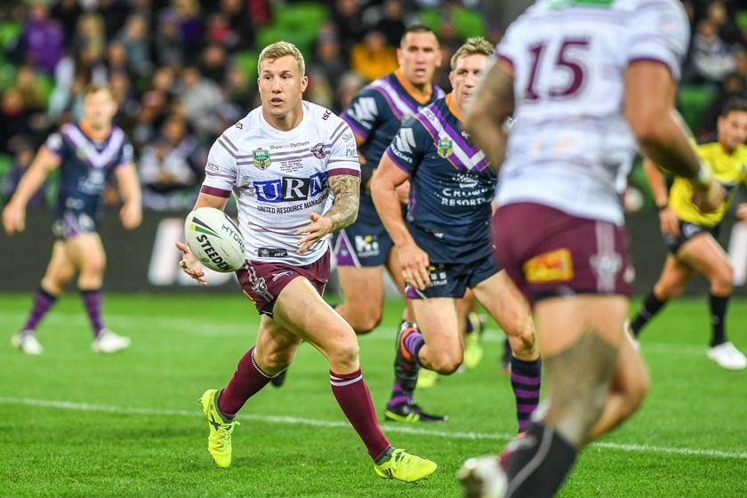 Sea Eagles half Trent Hodkinson.