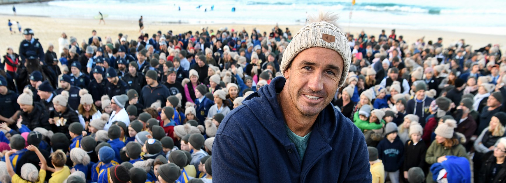 Knights great Andrew Johns ahead of Beanies for Brain Cancer Round.