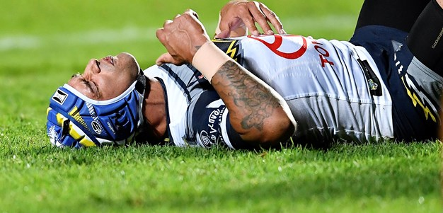 Thurston reacts after another late hit