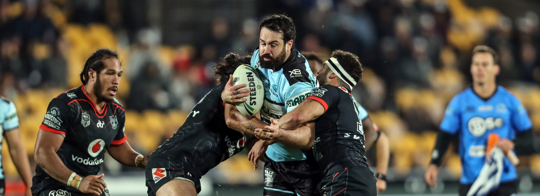Sharks prop Aaron Woods.