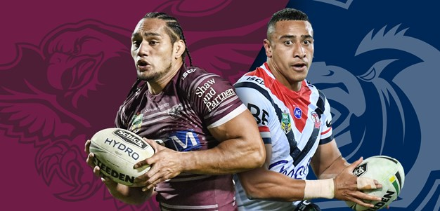 Sea Eagles v Roosters: Lane to bench, Matterson in for Liu