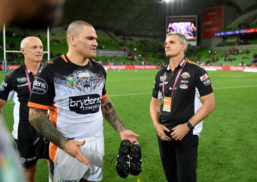 Ivan Cleary with Russell Packer.