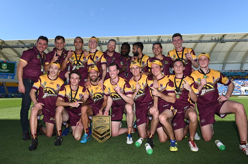 The victorious Brisbane Broncos touch side.