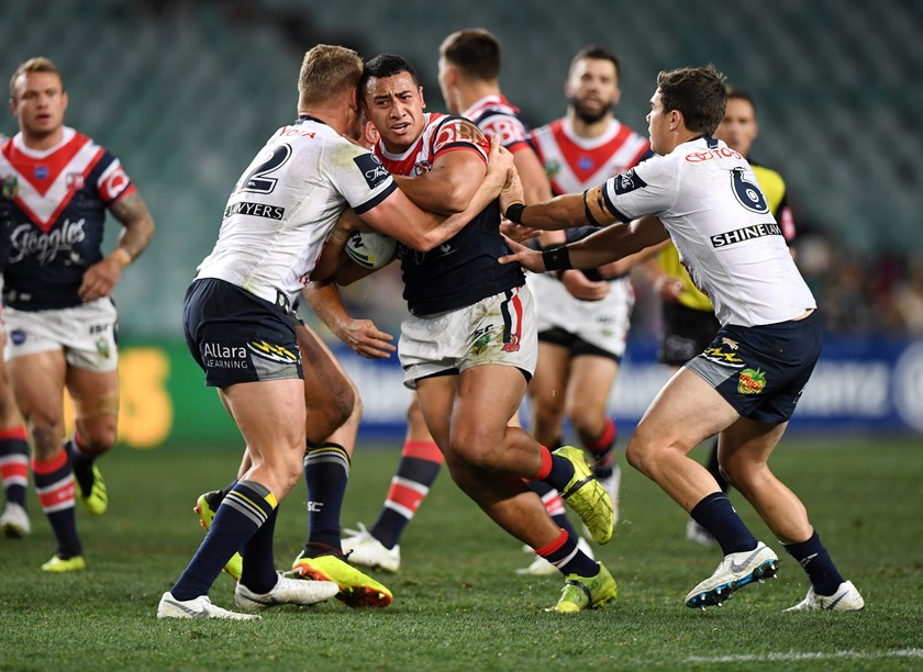 Roosters prop Sio Siua Taukeiaho.
