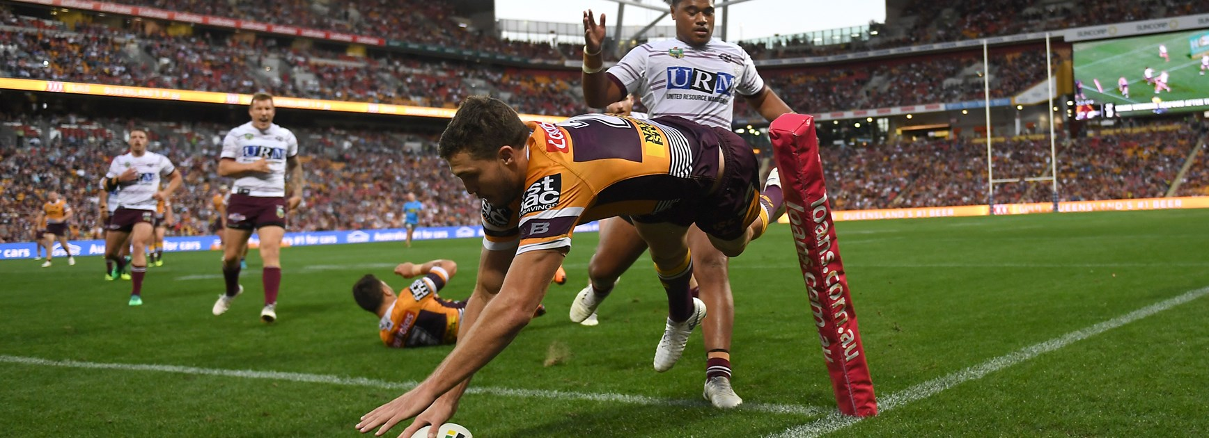 Corey Oates was unstoppable in round 25, 2018 against Manly.