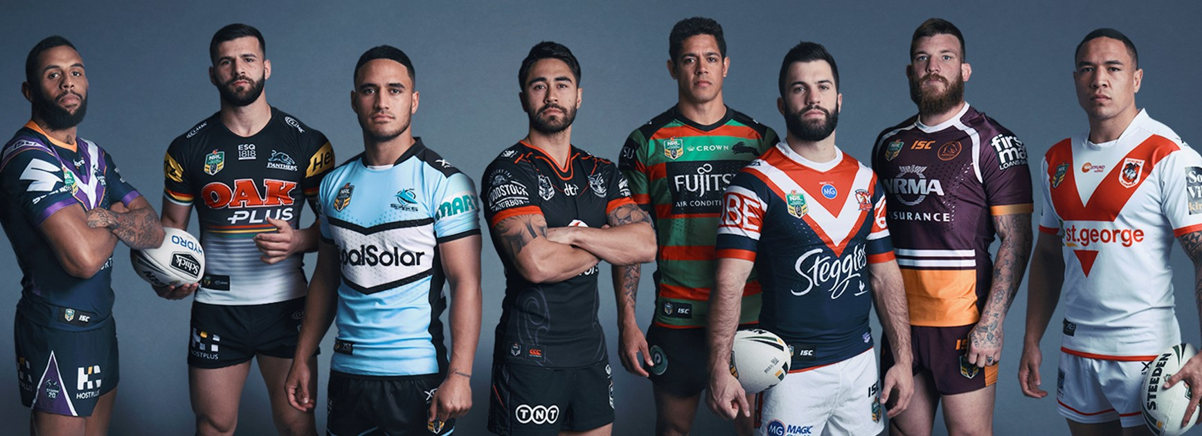 Representatives of the eight teams to play in the NRL finals.