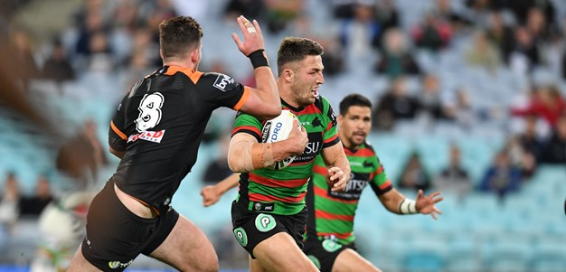 Rabbitohs downplay Burgess injury in Tigers rout