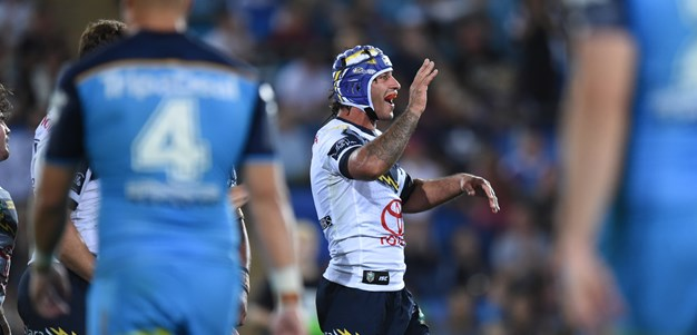 Thurston farewells NRL in style as Cowboys storm home