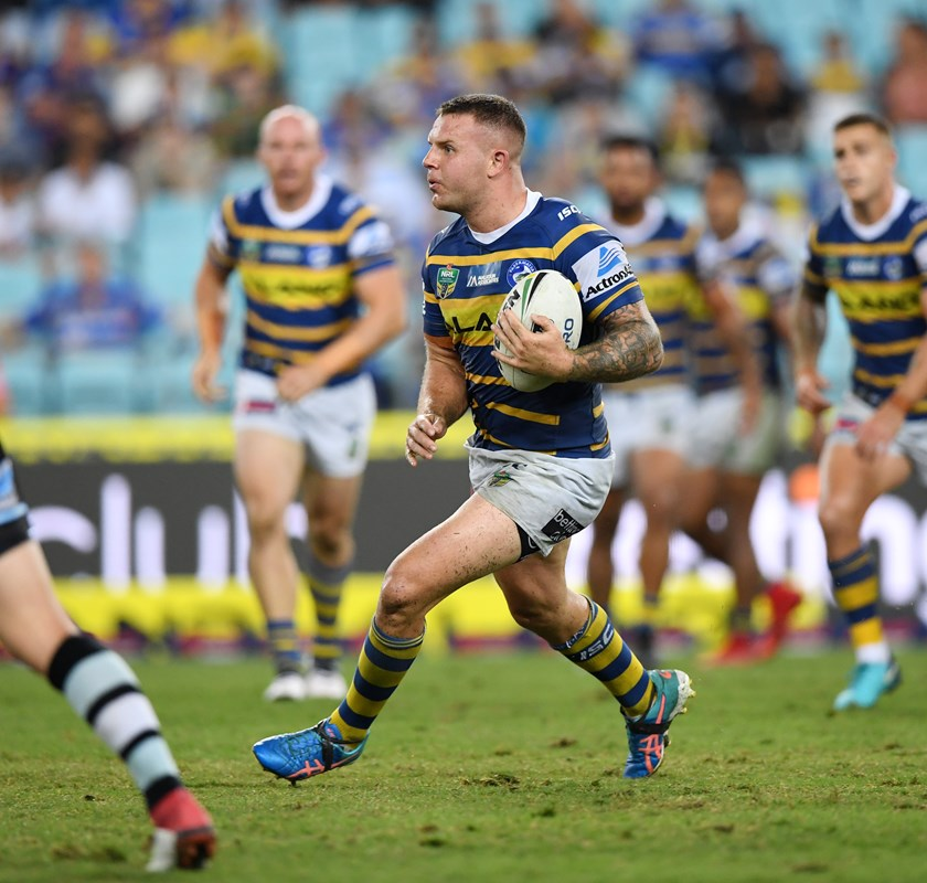 Parramatta Eels lock Nathan Brown.