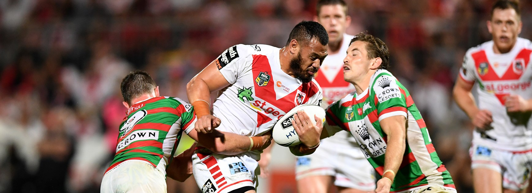 Dragons forward Leeson Ah Mau.