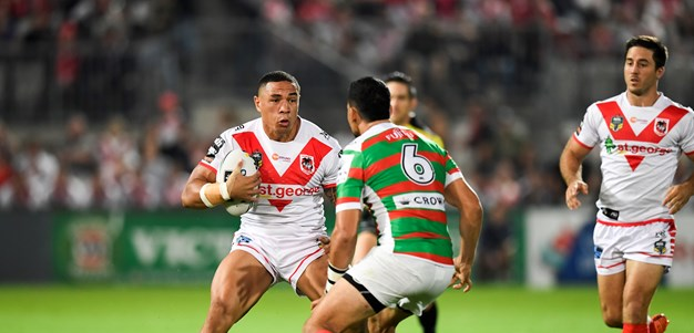 Dragons get off to historic start despite Souths scare
