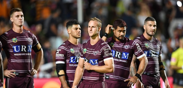 Manly players booed by own fans during Wests Tigers loss
