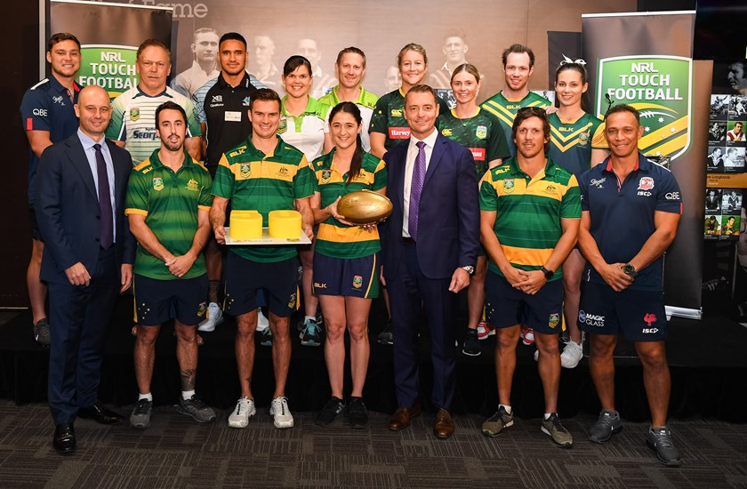 The launch of the new Touch football premiership competition at Rugby League Central.