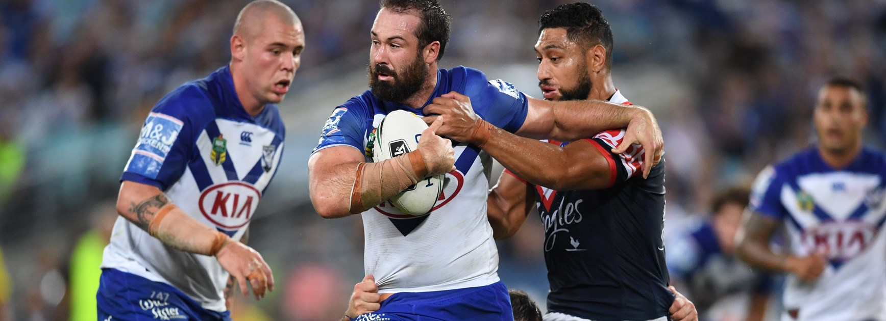 Bulldogs prop Aaron Woods.