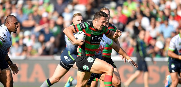 Burgess on report as Rabbitohs thump Raiders