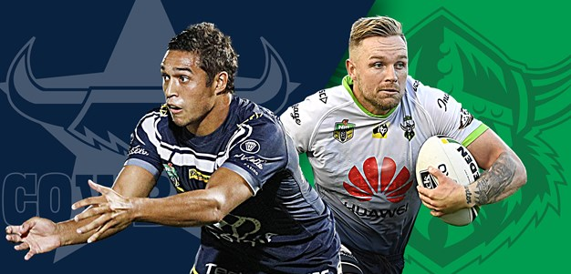 Cowboys v Raiders: Fensom on bench; Papalii at lock