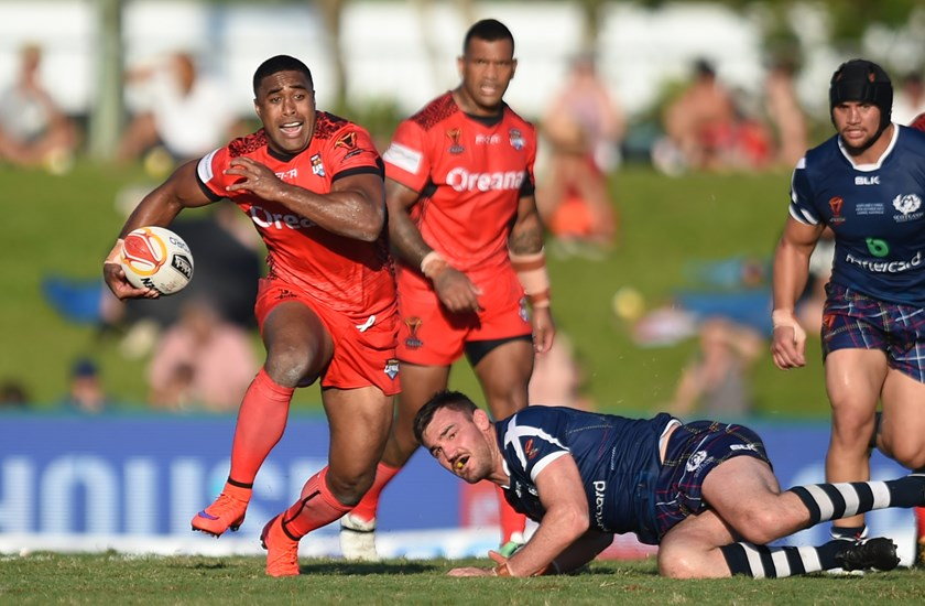 Michael Jennings in action for Tonga.
