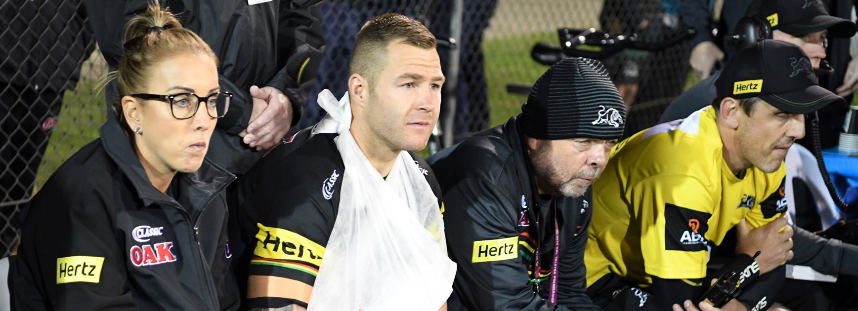 Injured Panthers forward Trent Merrin.